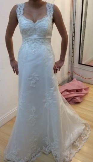 Jasmine Bridal Keyhole Back Lace Dress Wedding Dress