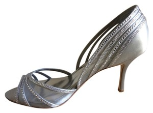 Badgley Mischka Grey Satin Formal
