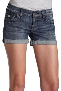 See Thru Soul Cutt Offs Distressed Denim Shorts-Distressed
