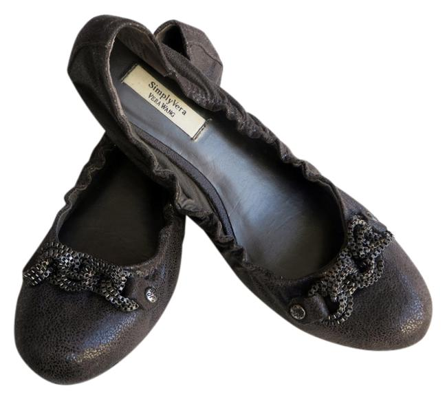 Item - Gray Simply with Chain Detail Flats Size US 6.5