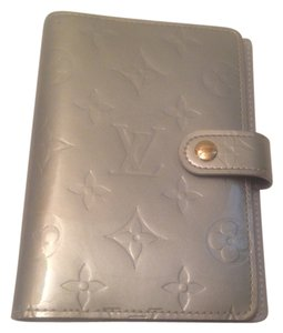 Louis Vuitton Louis Vuitton Silver Monogram Vernis Small Ring Agenda Cover