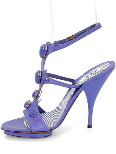 Moschino Jeweled T-strap Purple, Lavendar Sandals