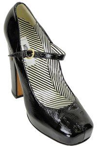 Moschino Patent Leather Hidden Black Platforms