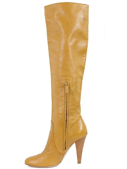Moschino Knee High Caramel, Mustard Boots