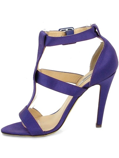 Moschino Satin T-strap Purple Sandals