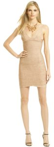 Hervé Leger Date Cocktail Sexy Gold Dress