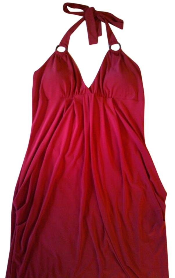 Wet Seal Red Knee Length Short Casual Dress Size 16 Xl Plus 0x