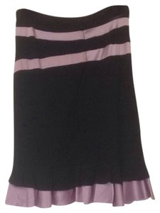 Bebe Skirt Black & Purple