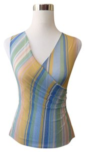 Sweet Pea by Stacy Frati Striped Stripes Mesh Nylon Top