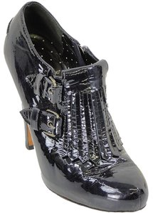 Moschino Bootie Patent Leather Black Boots