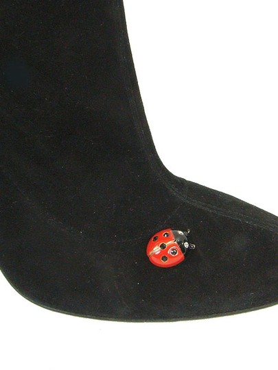 Moschino Suede Knee High Black Boots Image 1