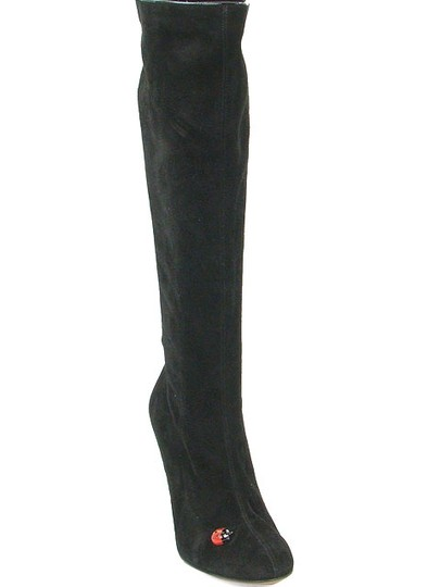 Moschino Suede Knee High Black Boots Image 2