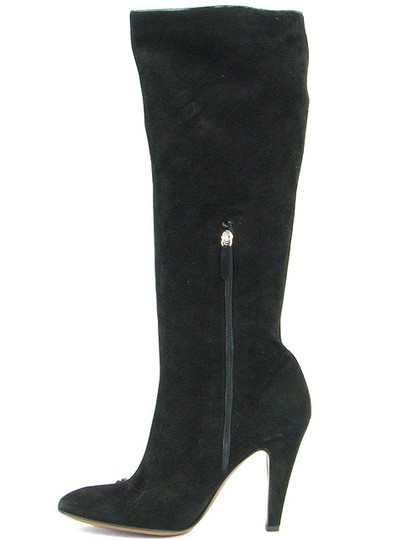 Moschino Suede Knee High Black Boots Image 4