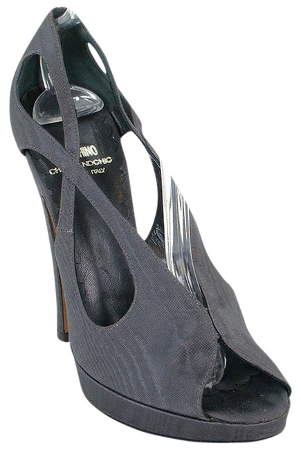 Item - Gray Cheap & Chic - Cutout Peep Pumps Size US 9