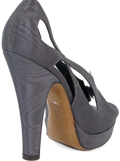 Moschino Cut-out Peep Toe Fabric Canvas Tie Dye Gray Pumps Image 2