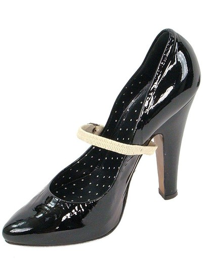 Moschino Mary Jane Patent Leather Hidden Platform Black Pumps