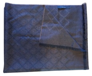 Gucci Gucci Scarf Brown Silk/Wool