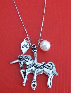 Fashion Jewelry For Everyone Silver Unicorn Hand Stamped Name Personalize Birthstone Swarovski Crystal Unicorn Lover Necklace