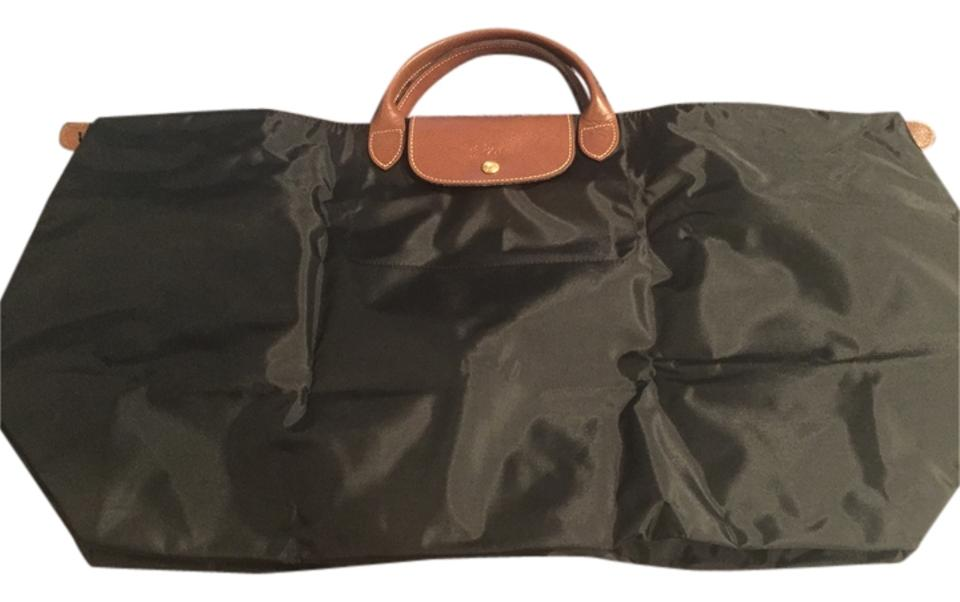 Longchamp Le Pilage Xlarge Duffel Black Canvas Weekend Travel Bag ... 165ed35b3fee5