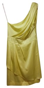 BCBGeneration Silky Neon Draped One Mini Dress