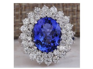 Fine Gem Tanzanite Diamond Anniversary Ring 4.55ct