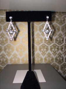 Diamonds Shaped Cz Earrings