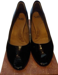Söfft Peep Toe Heels Wide 11 Dressy Everyday black Pumps