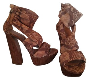 Casadei Cream & Brown Platforms