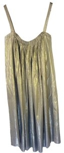 Vera Wang Gathered Metallic Dress