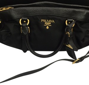 Prada Vintage Classic Leather Classic Leather Handbag Vintage Satchel in Black