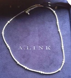 a. link A Link 18 K White Gold 2.45 Tcw Diamond Necklace