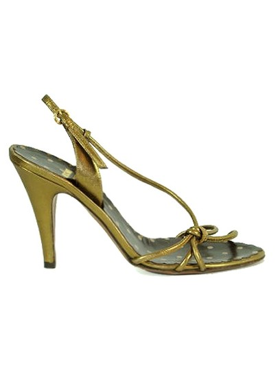Moschino Strappy Slingback Metallic Gold, Bronze Sandals Image 1