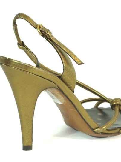 Moschino Strappy Slingback Metallic Gold, Bronze Sandals Image 2