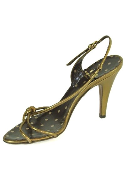 Moschino Strappy Slingback Metallic Gold, Bronze Sandals Image 3