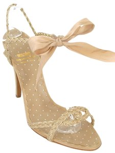 Moschino Braided Sandal Ribbon Beige Sandals