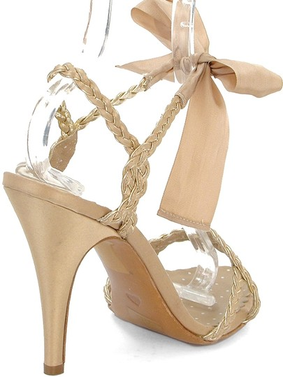 Moschino Braided Ribbon Beige Sandals Image 2