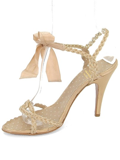 Moschino Braided Ribbon Beige Sandals Image 3