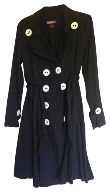 Say What? Overcoat Circle Skirt Trench Coat
