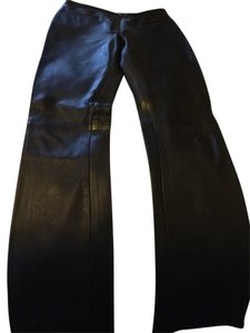 Bisou Bisou Boot Cut Pants Black Leather