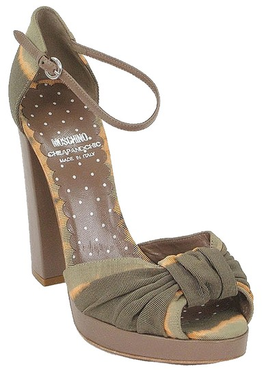 Preload https://img-static.tradesy.com/item/881599/moschino-olive-green-brown-taupe-cheap-and-chic-tie-dye-platform-sandals-size-us-7-0-0-540-540.jpg