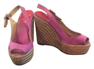 Christian Louboutin Purple Wedges