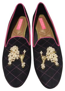 Isaac Mizrahi Black and pink Flats