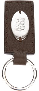 Fendi Selleria Leather Keychain Keyring Keyholder Unisex Brown