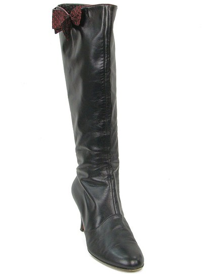Moschino Bow Black Boots