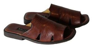 Bally Mens Leather Classic Brown Sandals