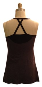 Truly Madly Deeply Crisscross Strap Top Grey Black