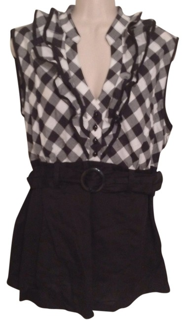 Dress Barn Top Black white