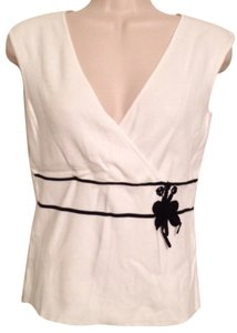 Ann Taylor LOFT Top White black