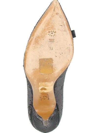 Moschino Seq Sequin Pointed Toe Black Pumps Image 4