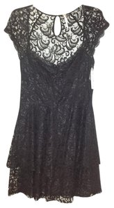 Free People Little Lace Fit And Flare Open Sweetheart Dress